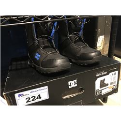 YOUTH SCOUT DG SNOWBOARD BOOTS - BLACK & BLUE - SIZE 4
