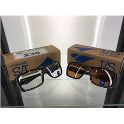 2 PAIR - I/S EYEWEAR GLASSES CUTTY AMBER & CLEAR ANTI-FOG