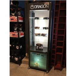 DRAGON LIGHTED DISPLAY CASE WITH LOCK & KEY (KEY IN OFFICE)
