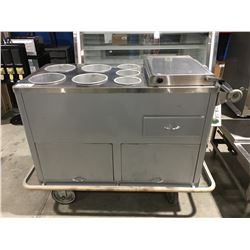 GRIMSBY WILCOLATOR COMMERCIAL MOBILE ELECTRIC HOT DOG/FOOD SERVER UNIT WITH BUN WARMER