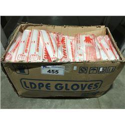 BOX FULL LDPE FOOD INDUSTRY GLOVES