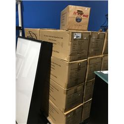 """1 PALLET OF 25 BOXES OF LOGOED CRAFT PAPER BAGS WITH CARRY HOLE 11"""" X 11"""""""