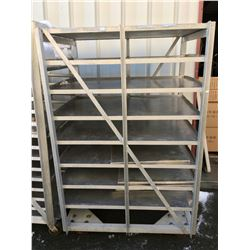APPROX. 3' X 5' ALUMINUM COMMERCIAL FOOD IND.  ROLLING RACK