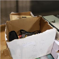 2 BOXES OF ELECTRONICS AND HEADPHONES