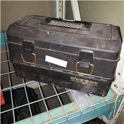 BLACK TACKLE BOX W/ CONTENTS
