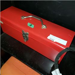 RED TOOL BOX W/ CONTENTS