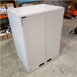 2 DOOR TANN MAGNETIC SHOP CABINET