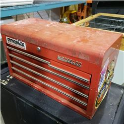 RED WATERLOO TOOL CHEST W/ CONTENTS