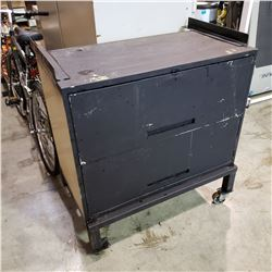 2 DRAWER ROLLING CABINET