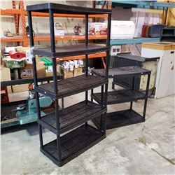 5 TIER AND 3 TIER PLASTIC SHELVES