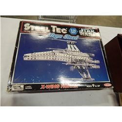 VINTAGE STEEL TEC MEGA SIZED STARWARS XWING FIGHTER BUILDING TOY