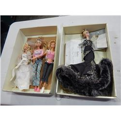4 BARBIE DOLLS - 1 IS SPECIAL EDITION STOLEN MAGIC