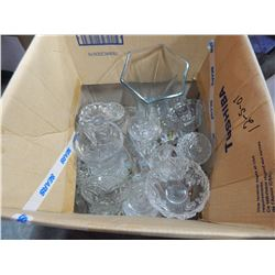 BOX OF CRYSTAL AND GLASSWARE