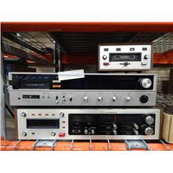 CANDLE STEREO 8 TRACK RECORDER, SEARS 28498 8 TRACK PLAYER AND NORTH STAR PLAYER