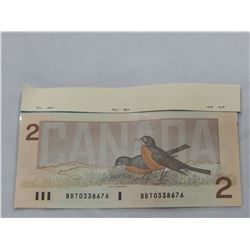 1986 CANADIAN 2 DOLLAR BANK NOTE - UNCIRCULATED