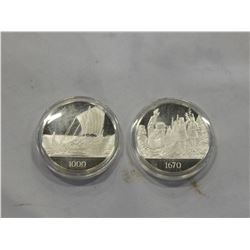 2 SILVER COINS FROM CANADIAN HISTORICAL ASSOCIATION