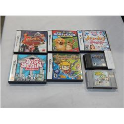 LOT OF 5 NINTENDO DS GAMES, 2 NINTENDO N64 GAMES