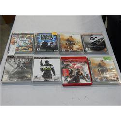 LOT OF 8 PS3 GAMES GTA 5, CALL OF DUTY, GRAN TURISMO 5, ETC