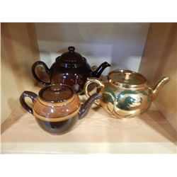 GIBSON, STAFFORDSHIRE AND MADE IN ENGLAND TEAPOTS