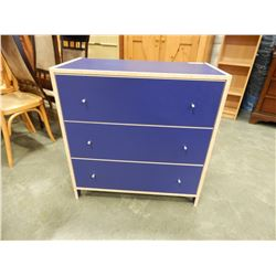 BLUE 3 DRAWER DRESSER