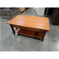 1 DRAWER WOOD COFFEE TABLE