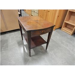 BEAU CRAFT 1 DRAWER WALNUT END TABLE