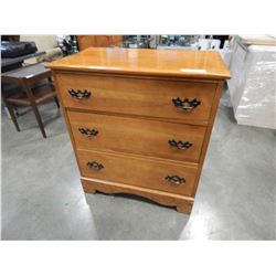 MAPLE 3 DRAWER CHEST OF DRAWERS