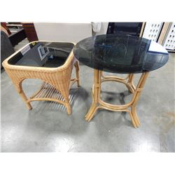 2 RATTAN COFFEE TABLES