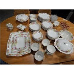 LOT OF ROYAL WINTON MIDHURST ENGLISH CHINA 92 PIECES INCLUDING SERVING DISHES, 8 CUPS AND SAUCERS, P