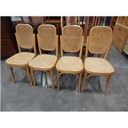 4 BENT WOOD DINING CHAIRS