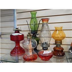 5 OIL LAMPS