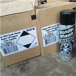 2 BOXES OF NEW WONDER WHEEL SUPER WET LOOK WHEEL FINISH