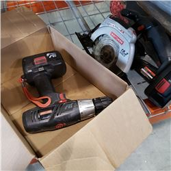2 CRAFTSMAN CORDLESS TOOLS WITH BATTERIES