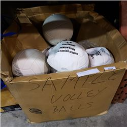 BOX OF VOLLEY BALLS