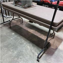 2-6FT CORE GATOR LIGHTWEIGHT MARKET TABLE W/ FOLDING LEGS