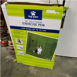 TOP PAW 36 INCH SPLIT DOOR EXERCISE PEN