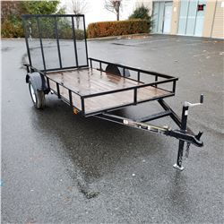 NEW 2019 CARRY-ON 5x10 FLAT BED TRAILER W/WOOD DECK AND RAMP