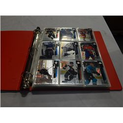BINDER OF UPPER DECK BLACK DIAMOND HOCKEY CARDS