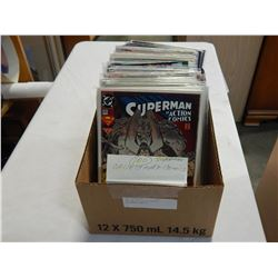 BOX OF 100 COLLECTABLE SUPERMAN COMICS
