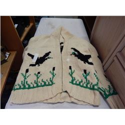KNITTED COWICHAN SWEATER