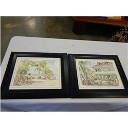 PAIR OF JILL WALKER PRINTS FROM BARBADOS STREET SCENE