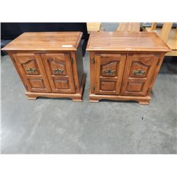 PAIR OF MAPLE 2 DOOR NIGHTSTANDS
