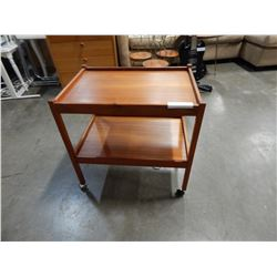 MID CENTURY TEAK BAR CART FROM DENMARK WITH STAMP
