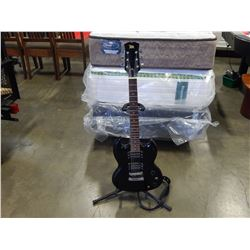 ELECTRIC GUITAR WITH STAND AND STRAP
