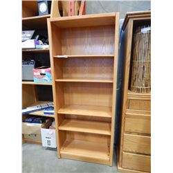 6 FOOT OAK BOOKSHELF