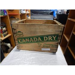 CANADA DRY GINGER ALE WOOD CRATE