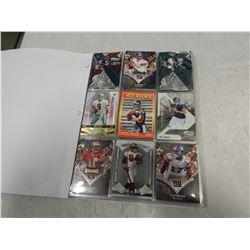 BINDER OF FOOTBALL CARDS INCLUDING ROOKIES, NUMBERED CARDS AND STAR CARDS