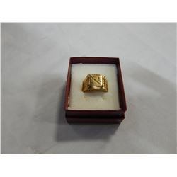 MENS RING STAMPED 18K UNTESTED UNVERIFIED