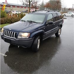 2004 JEEP GRAND CHEROKEE 4DR AUTOMATIC, 4X4, 235370KM KEYFOB, CARFAX AND REGISTRATION