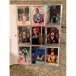 BINDER OF NBA BASKETBALL ROOKIE, STAR AND SPECIALLY NUMBERED INSERT CARDS